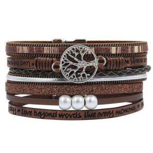 Bracelets Indiens L'Arbre de Vie en Cuir
