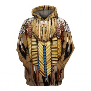 Sweat Indien Motif Plume