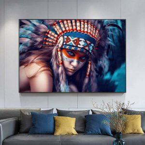 Tableau Amérindien La Déesse Indienne