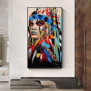 Tableau Amérindien Beauté Indienne