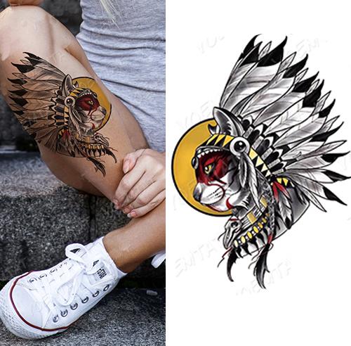 Tatouage Amérindien - Le Chat Amérindien