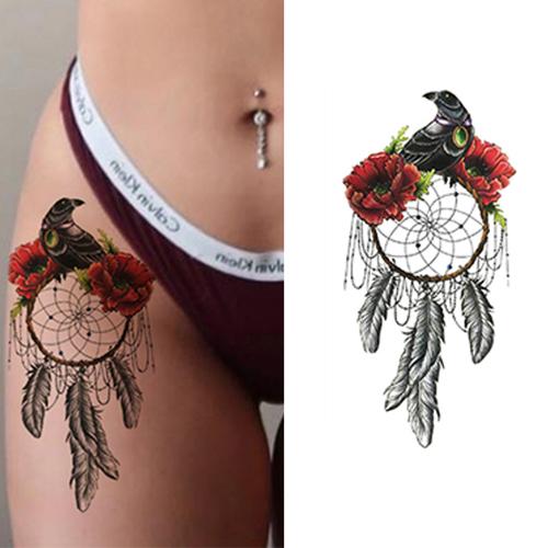 Tatouage Attrape Rêve Cuisse - Le Petit Oiseau