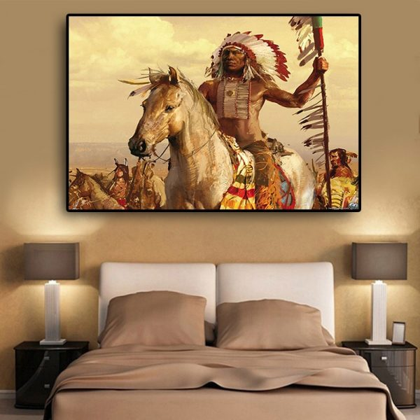 Tableau Amérindien Chef Indien