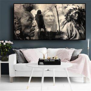 Tableau Amérindien Native Américain