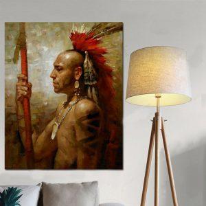 Tableau Amérindien Mohawk