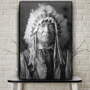 Tableau Amérindien Guerrier Indien