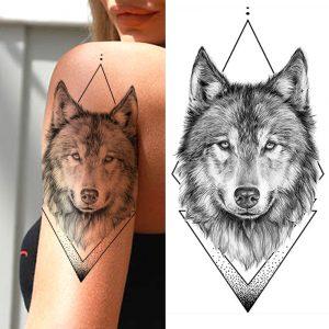 Tatouage Indien Loup - Loup Indien Blanc