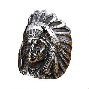 Bague Amérindienne Coiffe Indienne