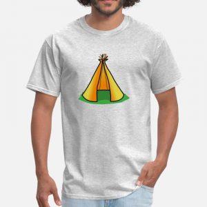 T Shirt Motif Tente Indienne Gris