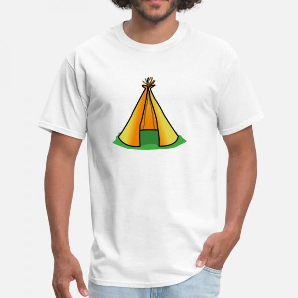 T Shirt Motif Tente Indienne blanc