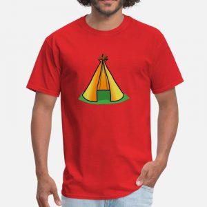 T Shirt Motif Tente Indienne rouge