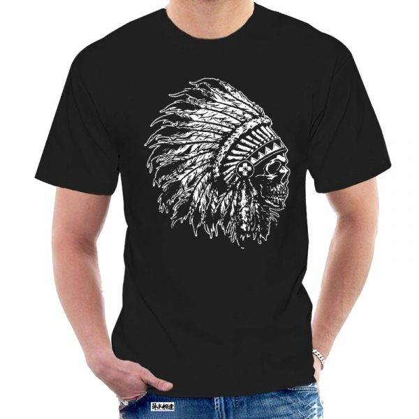 T-Shirt Indien tête de mort homme noir