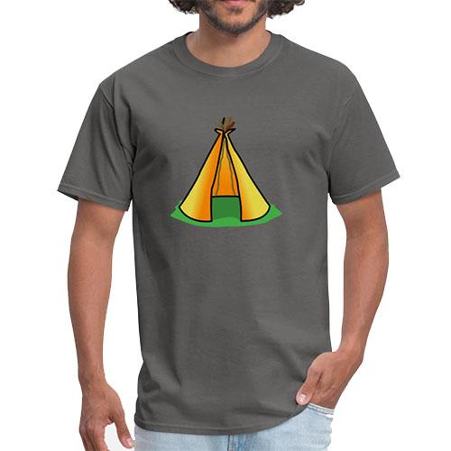 T Shirt Motif Tente Indienne vert
