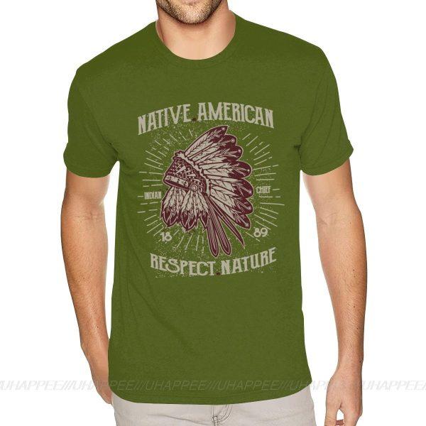 T-Shirt Indien Respect Nature Vert drapeau