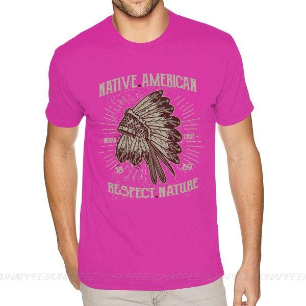 T-Shirt Indien Respect Nature rose