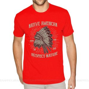 T-Shirt Indien Respect Nature rouge