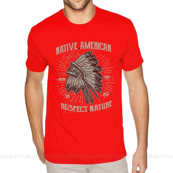 T-Shirt Indien Respect Nature rouge
