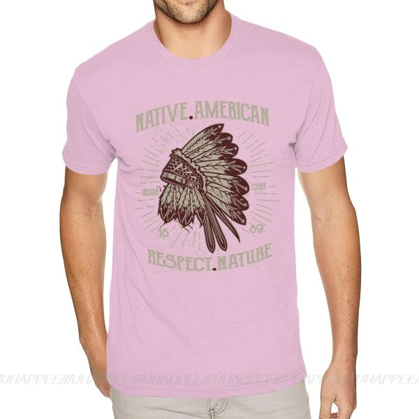 T-Shirt Indien Respect Nature rose claire