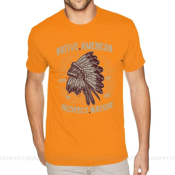 T-Shirt Indien Respect Nature orange
