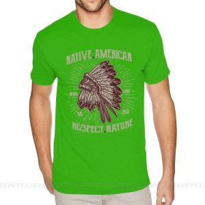 T-Shirt Indien Respect Nature vert pistache