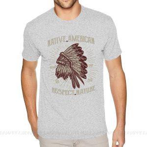 T-Shirt Indien Respect Nature gris claire