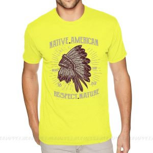 T-Shirt Indien Respect Nature jaune
