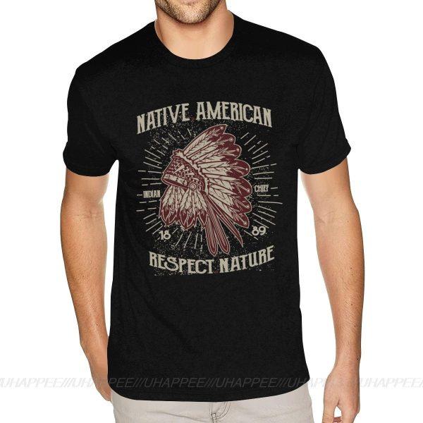 T-Shirt Indien Respect Nature noir