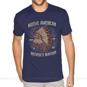 T-Shirt Indien Respect Nature Bleu