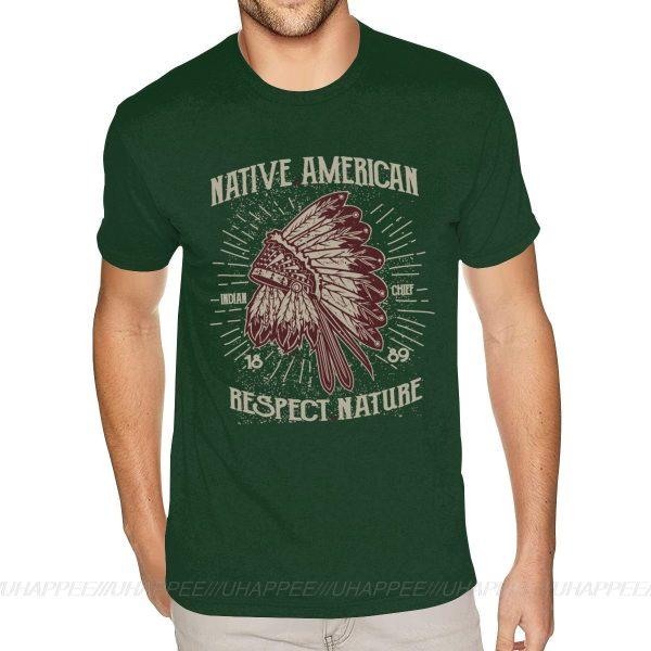 T-Shirt Indien Respect Nature vert