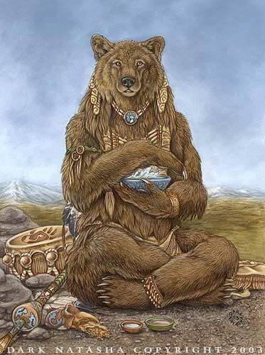totem ours amérindien