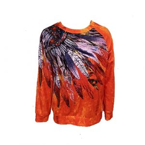 T-Shirt Indien National Plume