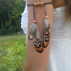 Bracelet Amérindien Plume Indienne