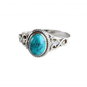 Bague Amérindienne Turquoise bleu