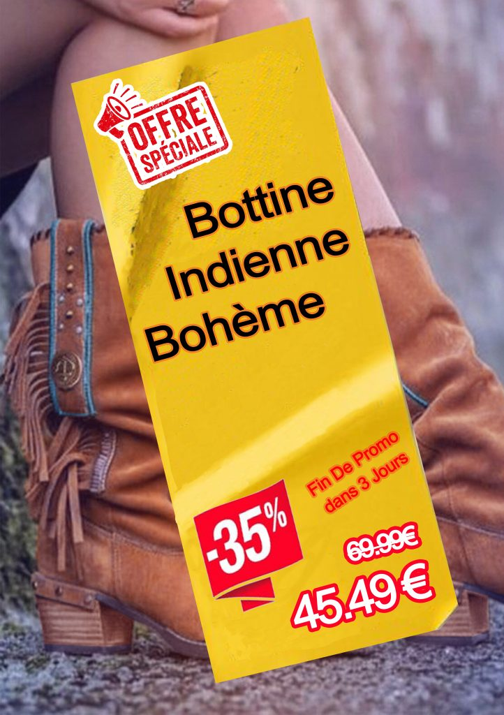 Bottine indienne bohème prix pas cher