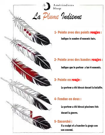plume Indienne Couleur et signe